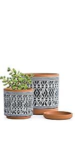 Diamond Pattern Planter Pot