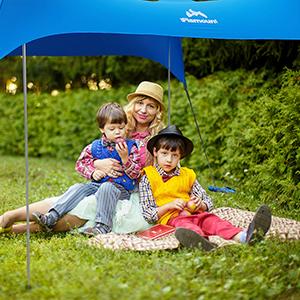 garden fun with Flamount beach canopy tent
