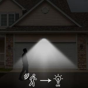 solar power motion sensor light outdoor, solar motion detector lights for outside