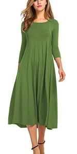 long sleeve dress for owmen