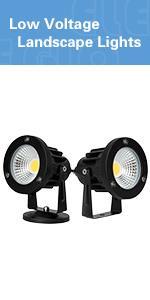 spotlight led landscape light  low voltage landscape light ac plug in outdoor spotlight patio yard