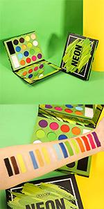 Neon Eyeshadow Palette eye makeup brushes professional eye mak eup brushes eye makeup