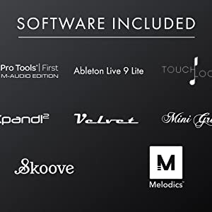 SOFTWARE INCLUDED IN TO THE M-AUDIO KEYSTATION 49 MK3