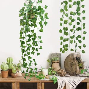 Optima traders Artificial Money Plant Leaves Vines/Creepers for Wall Hangings, Balcony SPN-FOR1