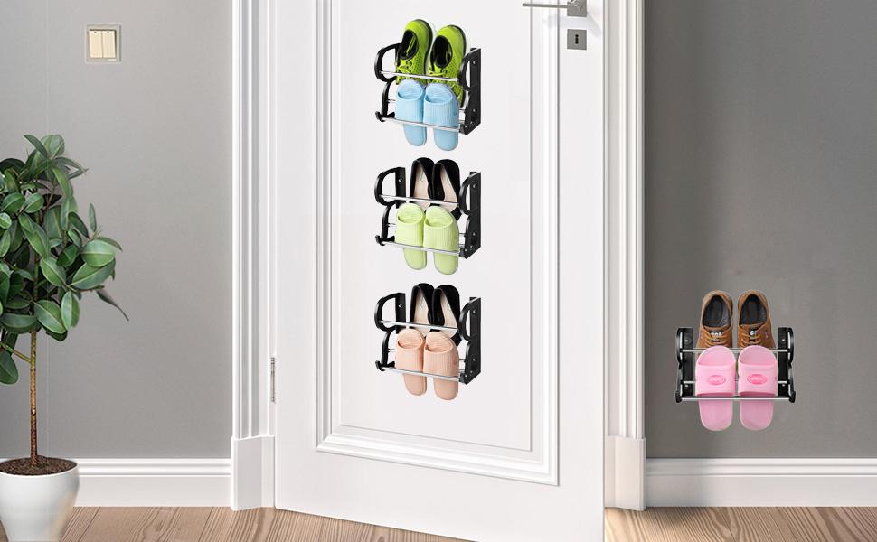 RV shoe rack over  the door