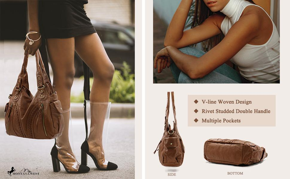 western soft leather bag