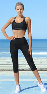 Women High Waist Yoga Pants with Pockets 4 Ways Stretch Workout Leggings