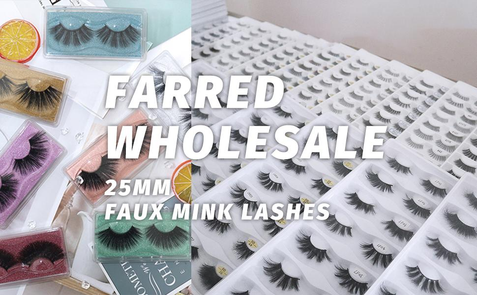 farred 25mm faux mink lashes