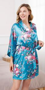 women short floral robes
