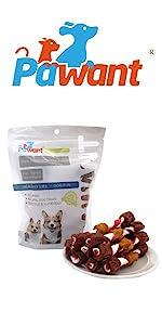 Dog Training Snacks Triple Flavored Rawhide Kabobs
