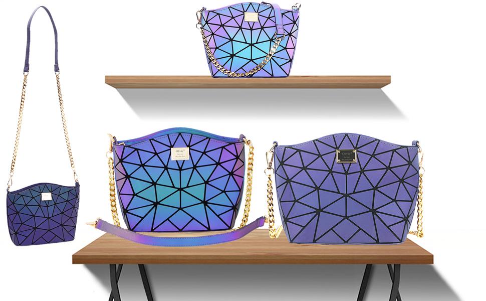 geometric handtaschen geometric luminous handtasche geometrisch tasche geometrischer rucksack