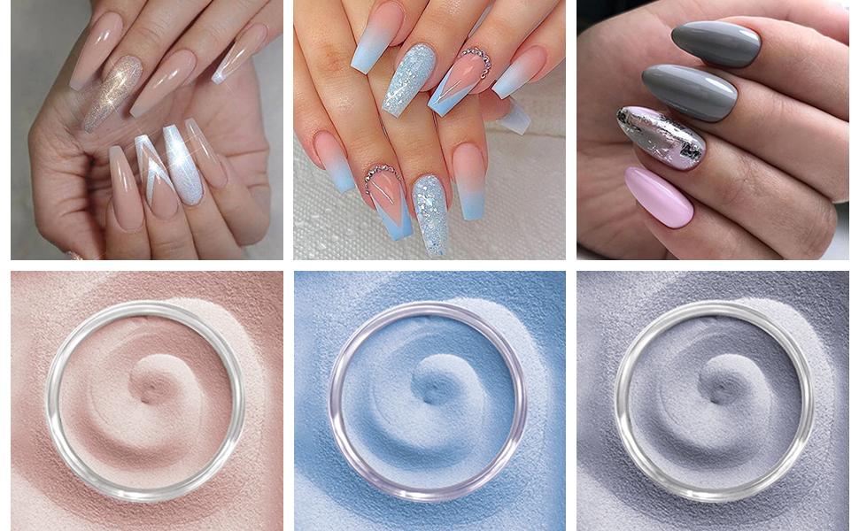 dipping powder starter kit dip colors acrylic nail kit nails nail  blue Nude hot pink honey joy