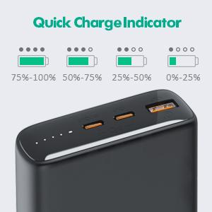 How to check battery level of powerbank