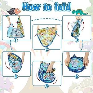 Bean Bag Toss Game folding steps
