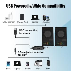 Computer speakers for laptop