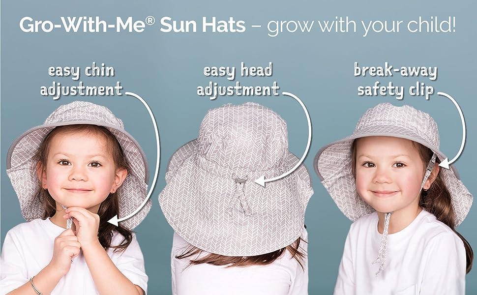 grow with me adjustment sun hat Jan amp; Jul 1-5Y S M L