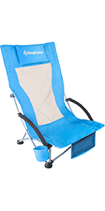 High Back Camping Beach Folding Chair