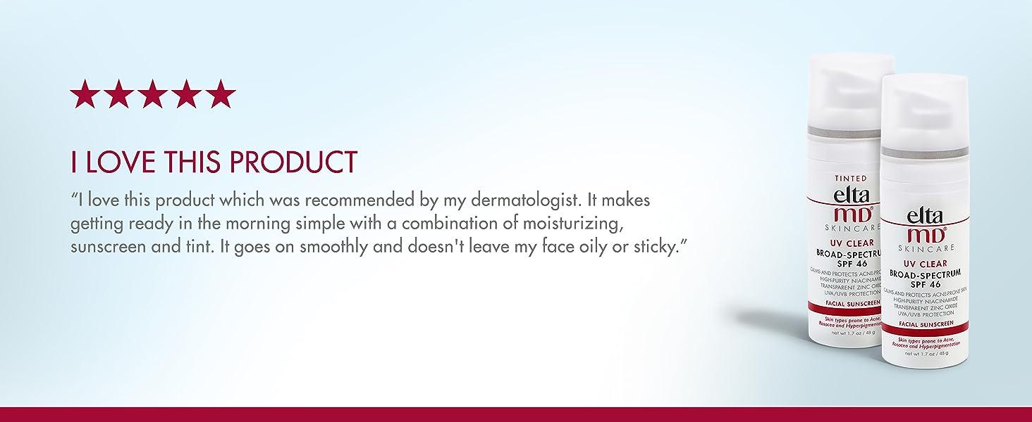 EltaMD UV Clear Tinted Facial Sunscreen UVA-UVB SPF 46, Oil-Free, for Sensitive, Acne-Prone, Rosacea