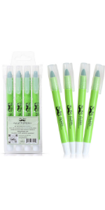 Mr. Pen No Bleed Gel Highlighter, Bible Highlighters, Green, Pack of 4