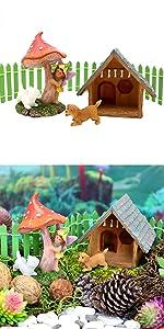 miniature fairy garden puppy dog house set