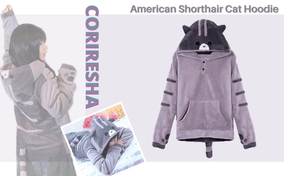 American shorthair cat hoodie