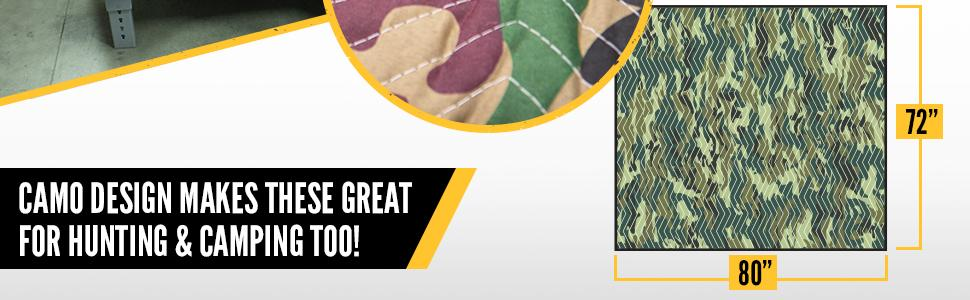 """camo moving blanket is 72""""x80"""""""