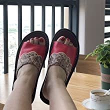 These sandals are suitable for most people.