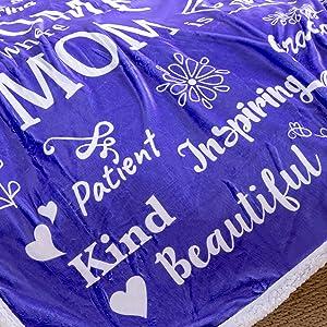 Inspirational words on blanket