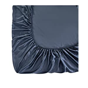 Vegan Silk fitted sheet with elastic all around fitted sheet king size flat sheet queen size