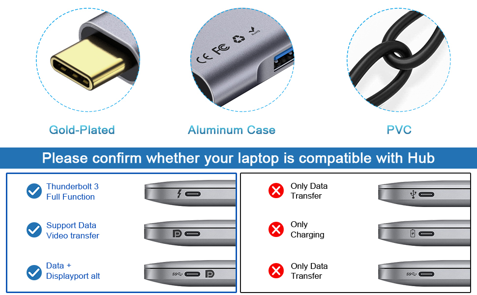 How to identify your device is compatible with our usb-c hub with HDMI