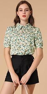 B08VN6CFB8 Vintage Floral Shirt