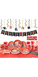 16 Guests Movie Theme Party Supplies B08N69D4S3
