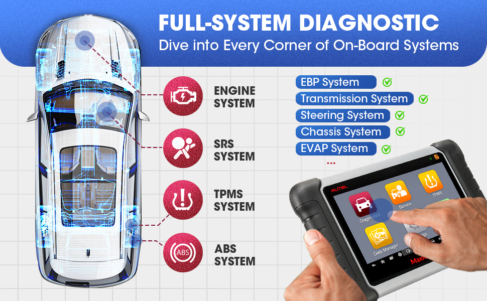 Autel scanner tpms diagnostic scanner