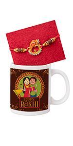 rakhi for brother with gift set milk mug