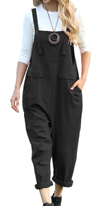 PV9 Women Long Casual Loose Bib Pants Overalls Baggy Rompers Jumpsuits