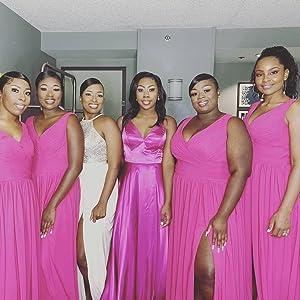 slit bridesmaid dresses long 2021