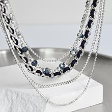 dark blue  chain necklace