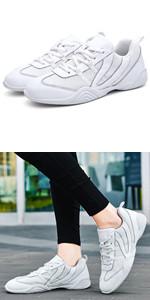 Adult amp;amp;amp; Youth White Cheerleading Shoe