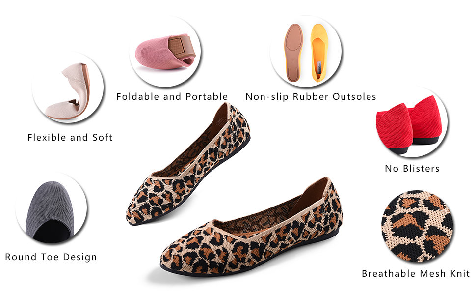 round toe flats shoes
