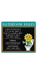 Sunflower Bathroom Sign