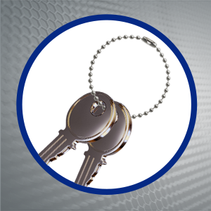 stainless ball chain keychain