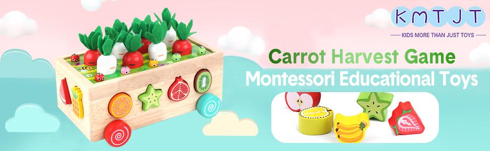 Carrot Harvest Game Montessori Educational Toys