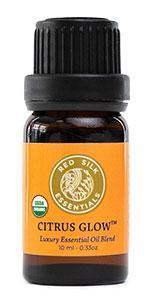 organic citrus glow essential oil blend
