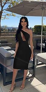 sexy club midi dress