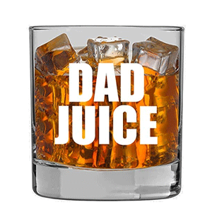 New Dad Gifts for Men- EST 2021 11oz Funny Whiskey/Cocktail Glass