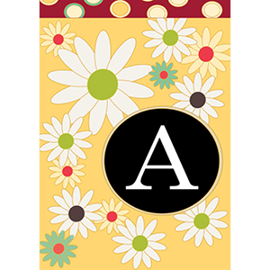 Flag with floral monogram A design
