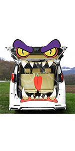 Monster Face Trunk or Treat Car Decorations