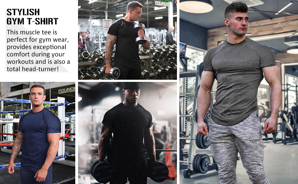 stylish gym t-shirt