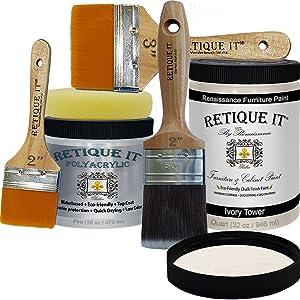 retique it,chalk paint,poly kit,polyurethene,top coat,chalk paint kit,furniture paint,cabinet paint