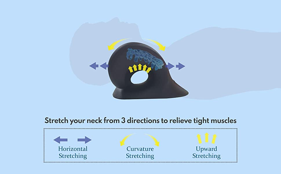 Stretch your neck from 3 directions to relieve tight muscles